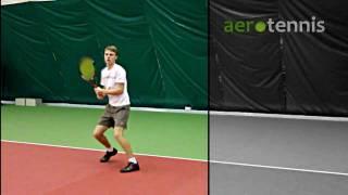 Теннис. Двуручный удар слева