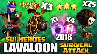 Lavaloon + Haste : TH9 SUPER STRONG WAR ATTACK STRATEGY | Lavaloon Event Clash of Clans