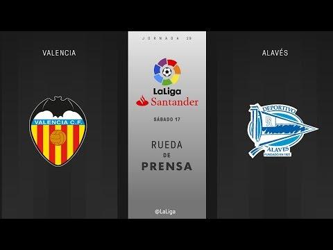 Rueda de prensa Valencia vs Alavés