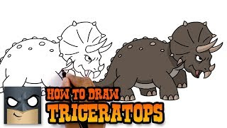 How to Draw Triceratops | Jurassic World (Art Tutorial)