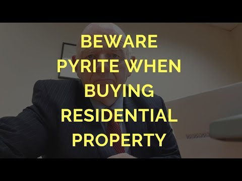 Beware Pyrite When Buying a House or Apartment