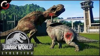 DINOSAURS FIGHTING BATTLE ARENA! Most Epic DINO Fight Scenes | Jurassic World Evolution Gameplay