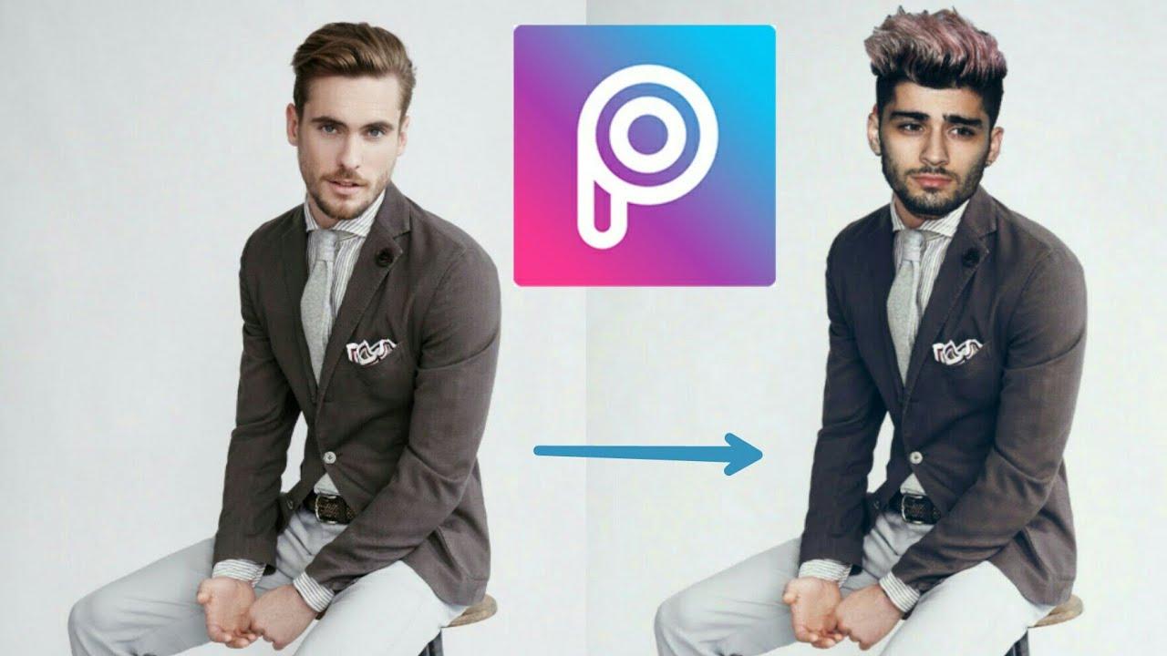 طريقه تركيب صورتك علي جسم المشاهير باستخدام برنامج Picsart Put Your Face On Stars Body Like Zayn Youtube