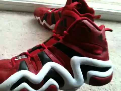 timeless design a90e2 2e3f1 Adidas crazy 8 red,white,black review - YouTube