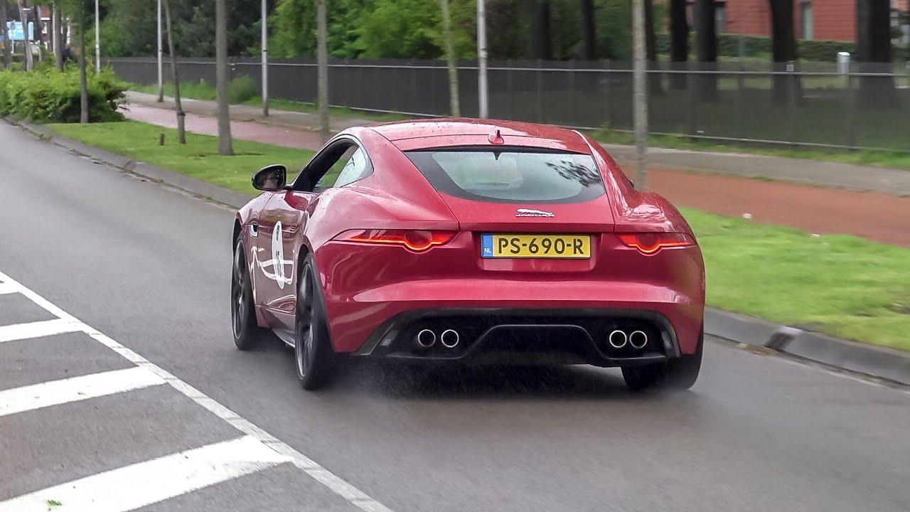Jaguar F Type V8 R Coupe Loud Accelerations Crackles Youtube