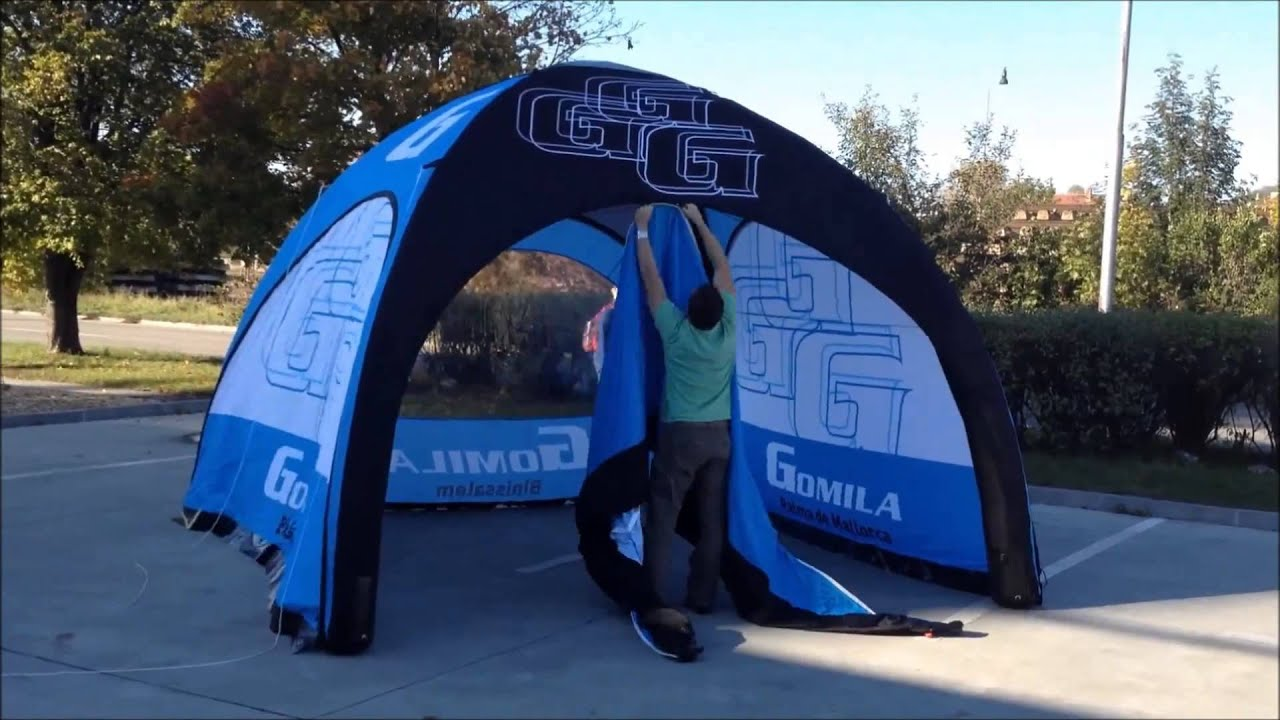 & Axion Inflatable Marquee Installation set up video - YouTube