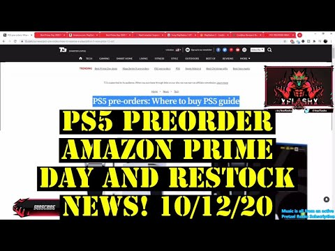 PS5 WAVE 3 AMAZON PRIME DAY UPDATE & RESTOCK NEWS! 10/12/20