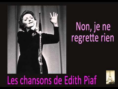 Edith Piaf - Non, je ne regrette rien - YouTube  Edith