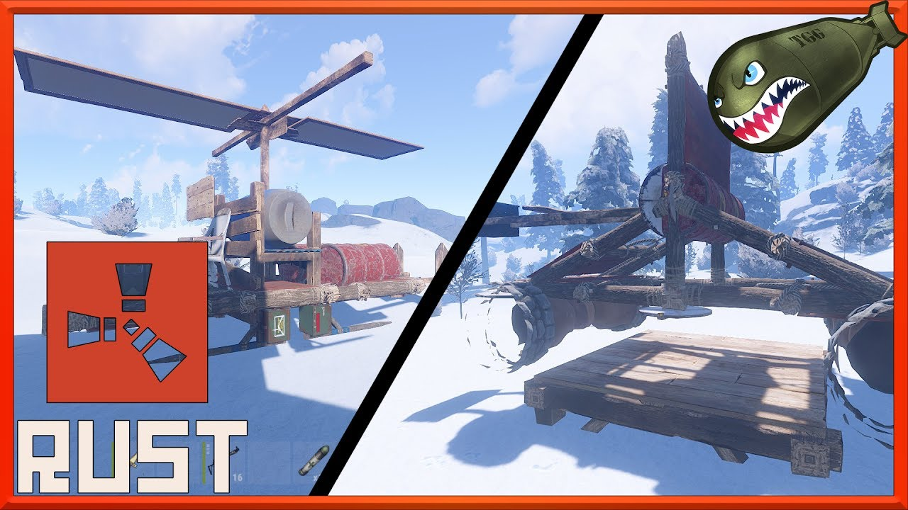 Rust | Oxide Plugins Catapult, Gyrocopter, Fly as Heli, Drawbridges #1  (Rust Mod Spotlights)