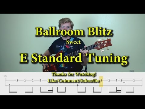 Ballroom Blitz - Sweet (Bass Cover With Tabs)
