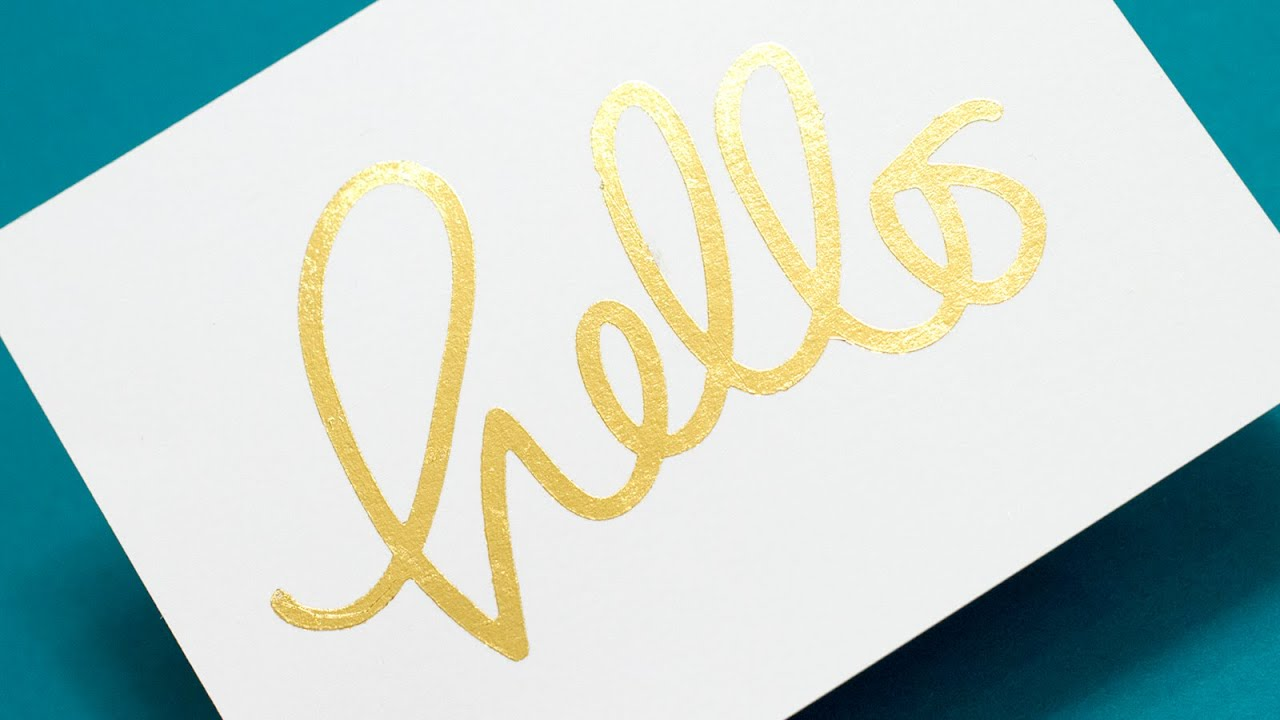 5 Ways To Add Gold Foil Youtube