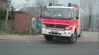 Feuerwehr (kreis Stormarn ) abfahrt von der gemeinschaftsübung in Trittau