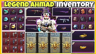 LEGEND AHMAD's Inventory | S3 To S14 Journey | Outfits | Skins | Pubg Mobile