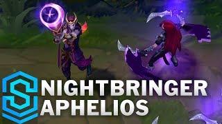 nightbringer Aphelios Skin Spotlight - Pre-Release - League of Legends