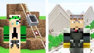 Minecraft NOOB Sister vs PRO Brother: ROLLERCOASTER CHALLENGE!