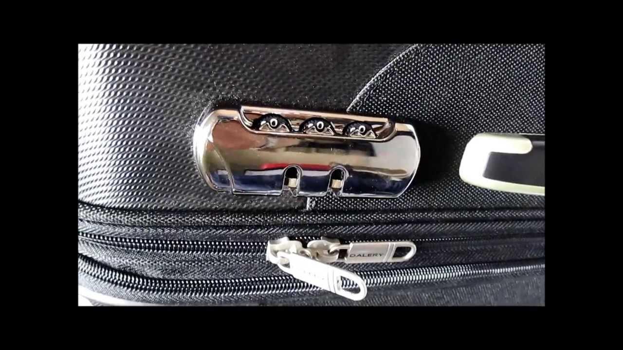 comment modifier un code de v rrouillage de valise dalery bagage r f rences espa et. Black Bedroom Furniture Sets. Home Design Ideas