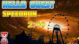 Прохождение Привет гость Speedrun 2:49 | Hello Guest