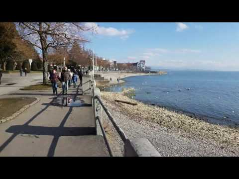 4K Friedrichshafen hafen Germany - place to visit. City on the Lake Constance (Bodensee in German)