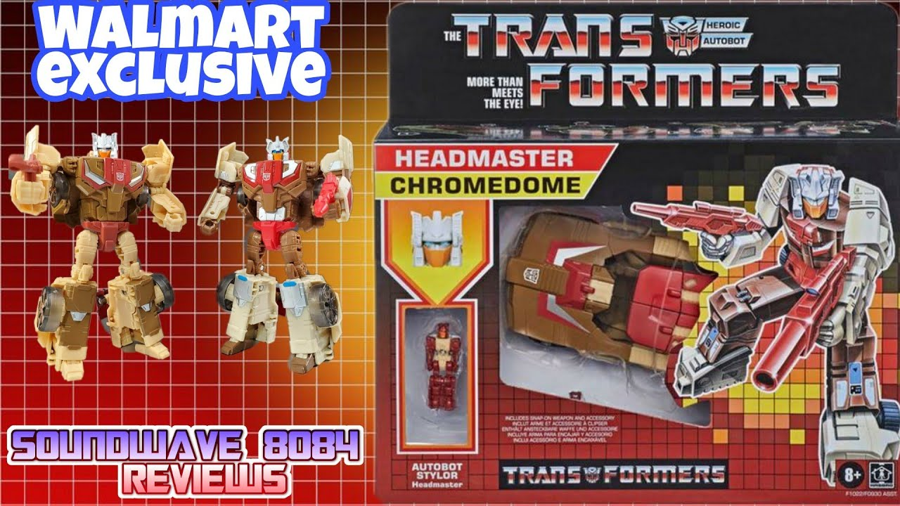 Walmart Exclusive Transformers Headmaster Chromedome with Stylor Review By Soundwave 8084