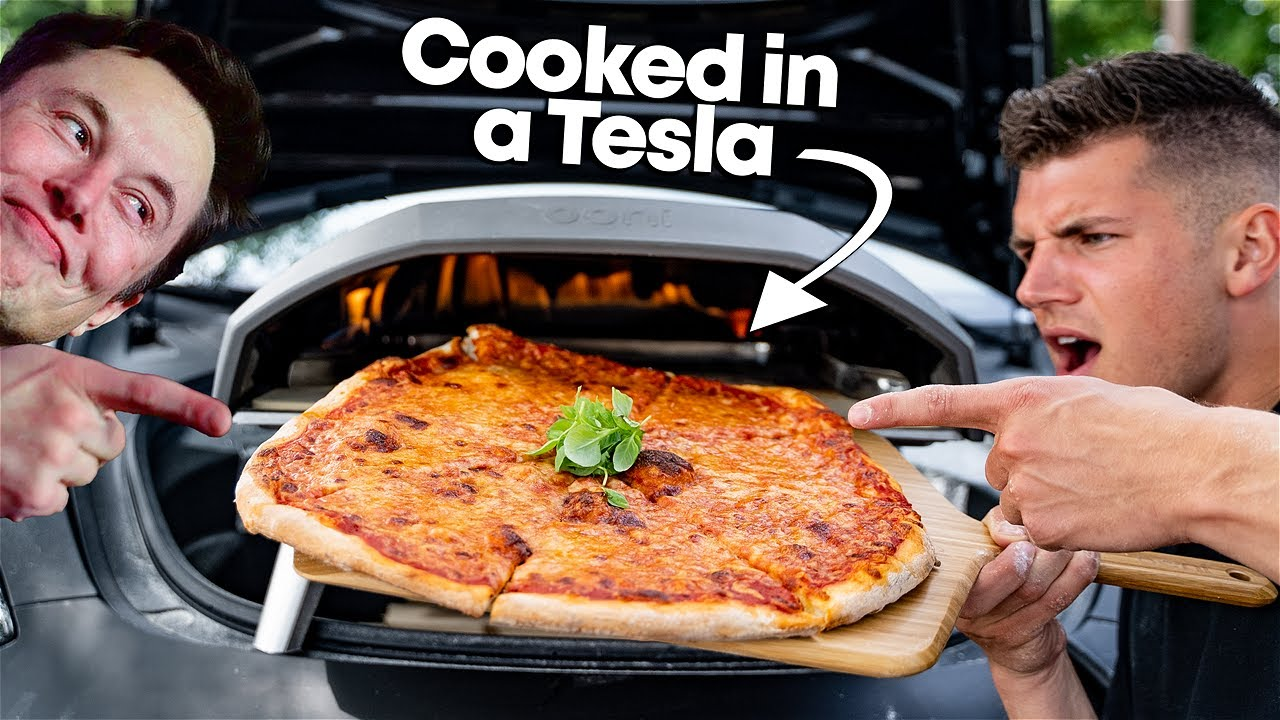 I Started a FREE Pizza Restaurant Out Of My Tesla