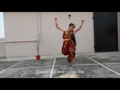Traditional classical dance by Indian girl