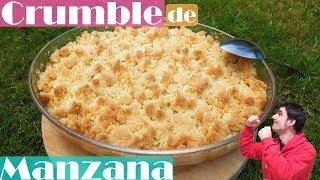 Crumble de manzana, receta fácil.