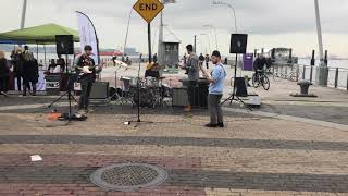 Jazz band at 69th Street Pier, Brooklyn, NY. Oct 20, 2019
