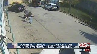 Domestic assault caught on tape