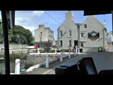 ISLE OF MAN BUS CAB RIDE DOUGLAS TO PORT ERIN JULY 2016