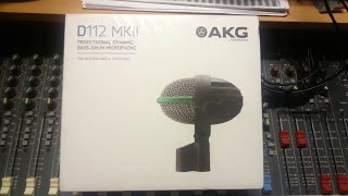 AKG D112 MKii Unboxing - Professional Dynamic Bass / Kick Drum Microphone