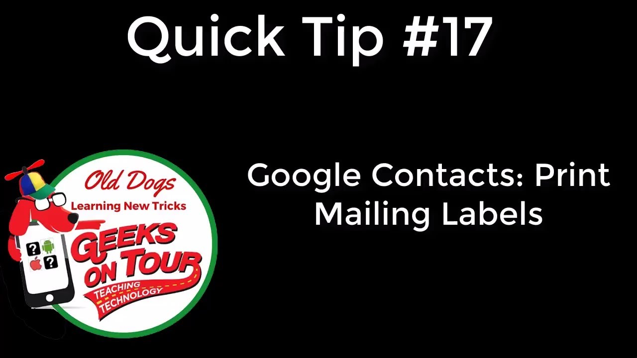 Printing Mailing Labels from Google Contacts using Avery #493