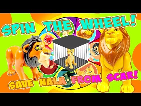 Simba & Catboy Play the Spin the Wheel Game to Save Nala! W/ Genie & Scar