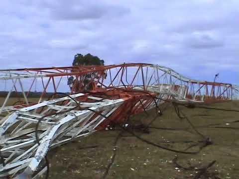 Explosive demolition of Radio 3UZ antenna mast.