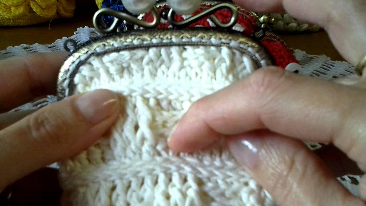Conosciuto Portamonete uncinetto crochet clic clac - YouTube LI67