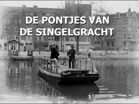 De pontjes van de Singelgracht in Amsterdam, met o.a. pontje/overhaal Leidsekade-Nassaukade