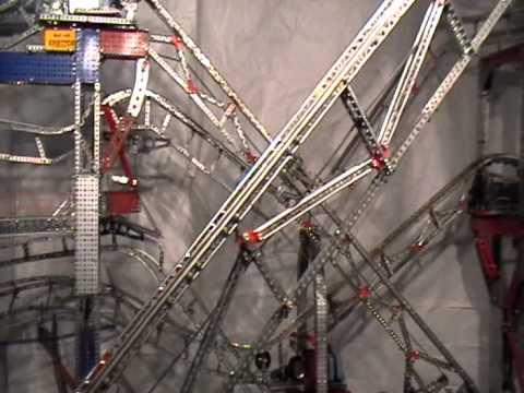 Erector set roller coaster by Greg Ralston