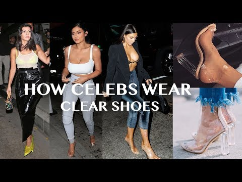 How Celebrity Wear Clear Shoes? 2018 Translucent Yeezy Style