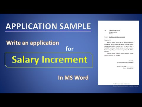 Application For Salary Increment | Salary Increment Request Letter In MS Word