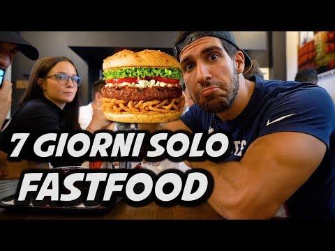 MANGIO SOLO FAST FOOD PER UNA SETTIMANA
