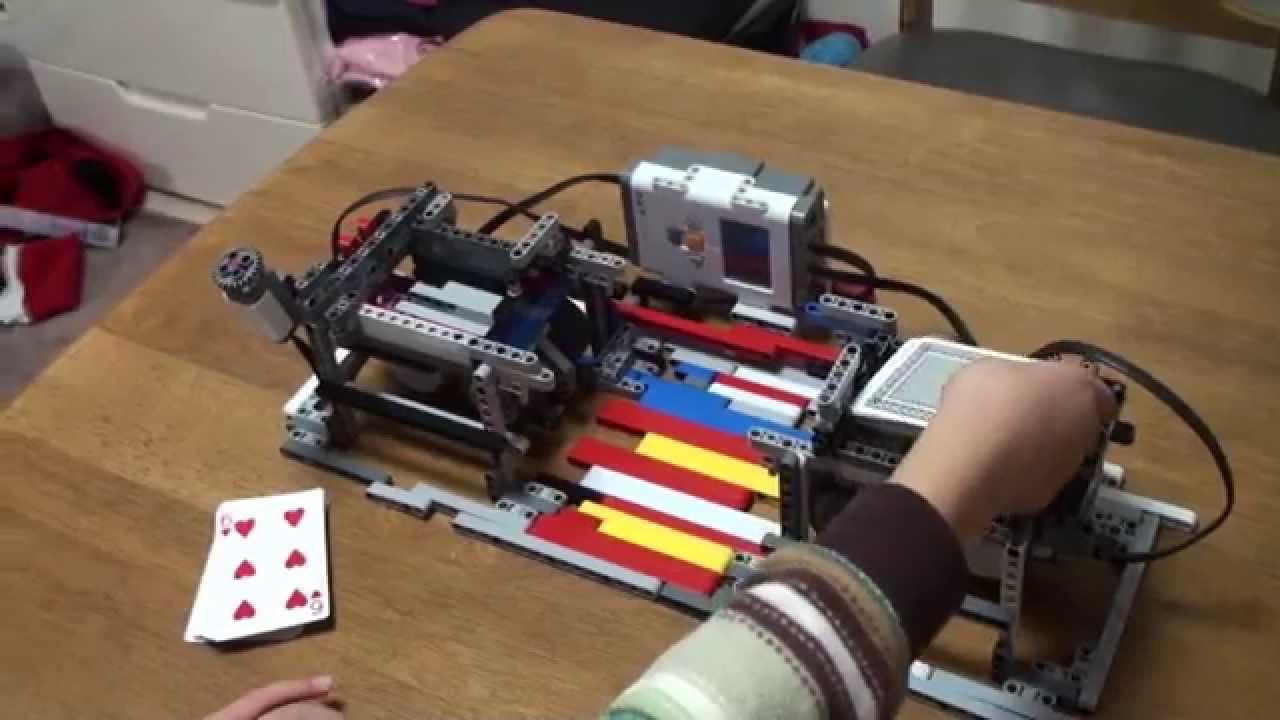 how to make a lego card shuffler
