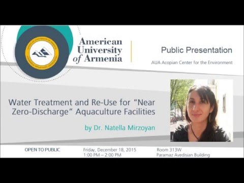 Water Treatment and Re Use for Near Zero Discharge Aquaculture Facilities