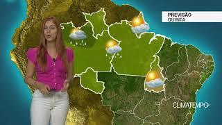 Previsão Norte - Pancadas isoladas de chuva