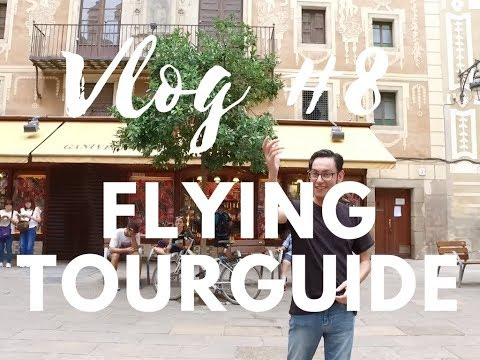 Vlog #8 Flying Tourguide Barcelona