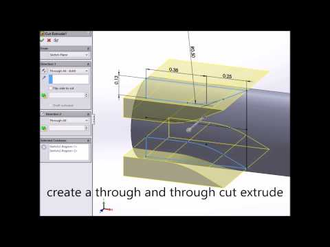 SolidWorks Tutorial: How to create a Surface Milling Cutter, HD