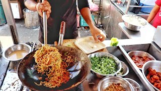Roadside Delicious Non Veg Meal | Schezwan Chicken Noodles Rice | Indian Street Food