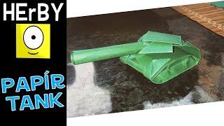 Tank hajtogatás papírból (origami)
