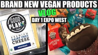NEW  Vegan Cheese & Other Products (Expo Day 1) VLOG + WORKOUT