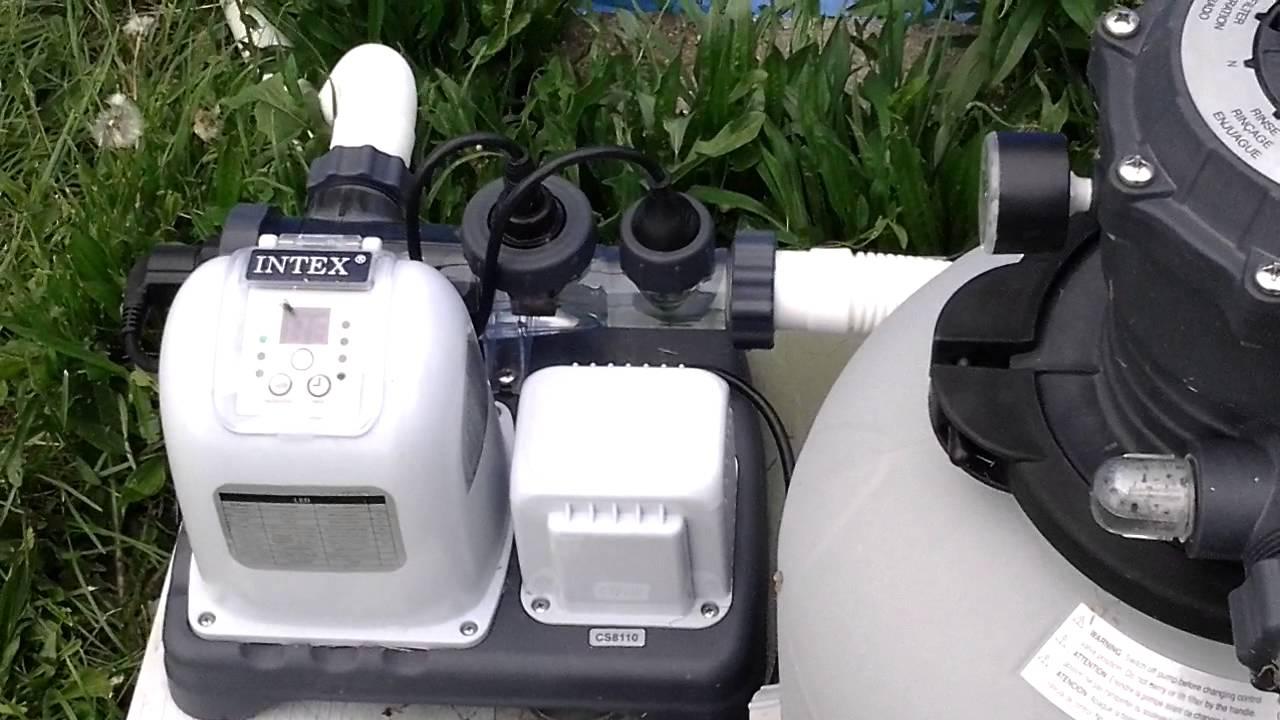 Salt Water Filter For Intex Pool Intex 1600 gph sand filter and salt-water filtration ...