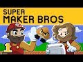 New Super Mario Maker | Let's Play Ep. 1: Ghost House | Super Beard Bros.