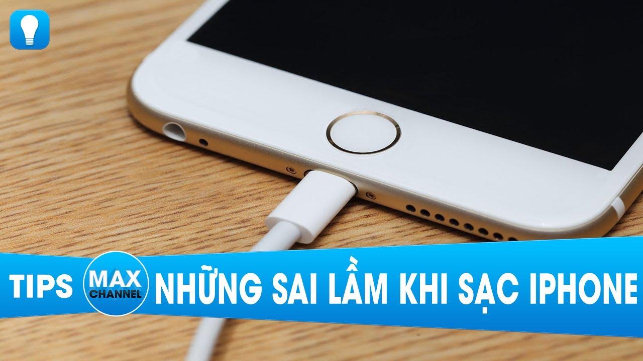 Những sai lầm khi sạc pin iPhone